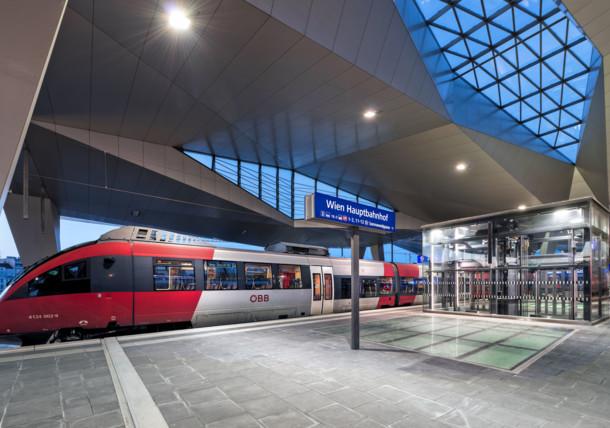 Vienna's main train station