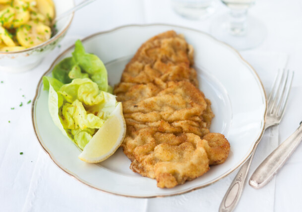 The traditional Wiener Schnitzel