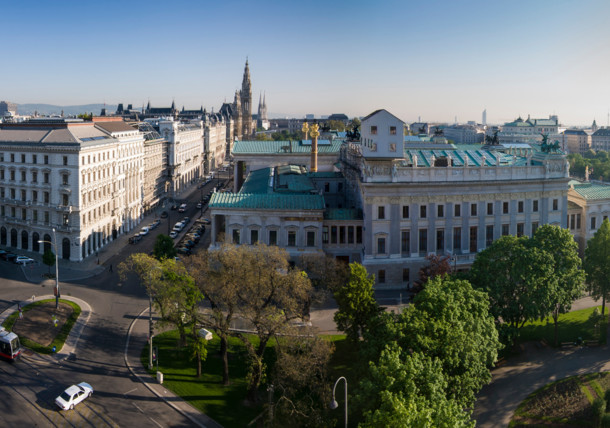 View from judicial palace in Vienna