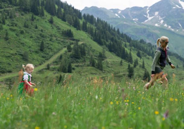 Mor med barn i Gastein