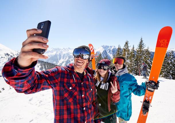 Skiing selfie at Ski amadé