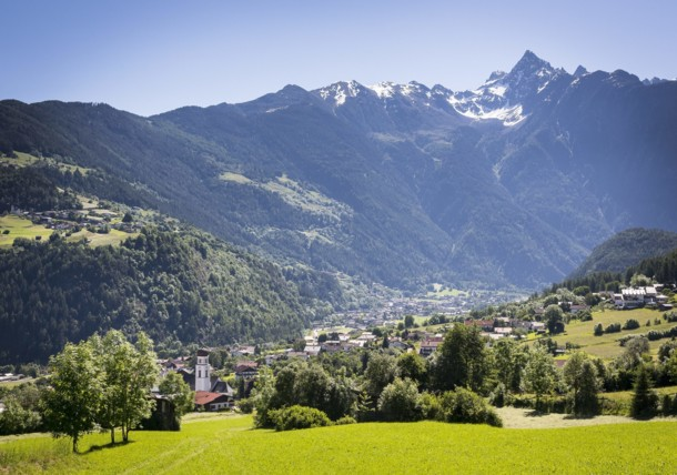 the village Sautens in the Ötztal valley