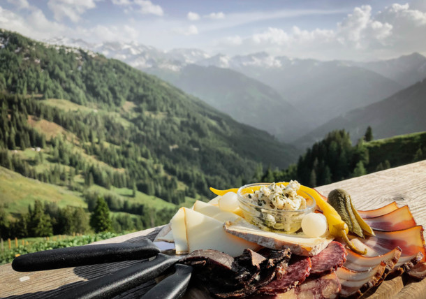 A delicious snack at an alpine hut in the area of Grossarl