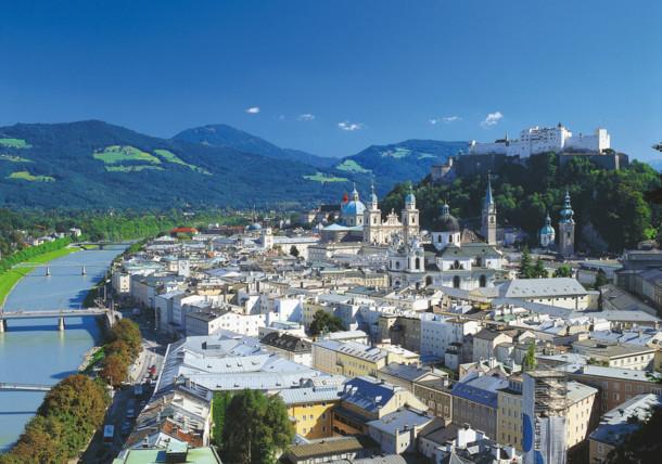 Město Salcburk v celé své kráse