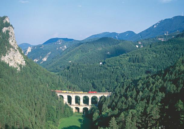 Railway in the Semmering area