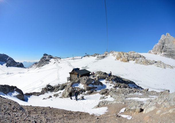 The Dachstein glacier
