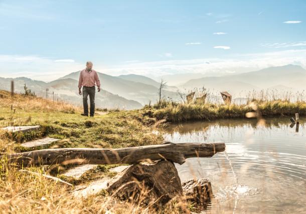 A lake on the Alpe-Adria Trail
