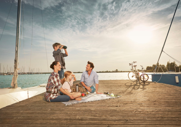 Rodinná pohoda u jezera