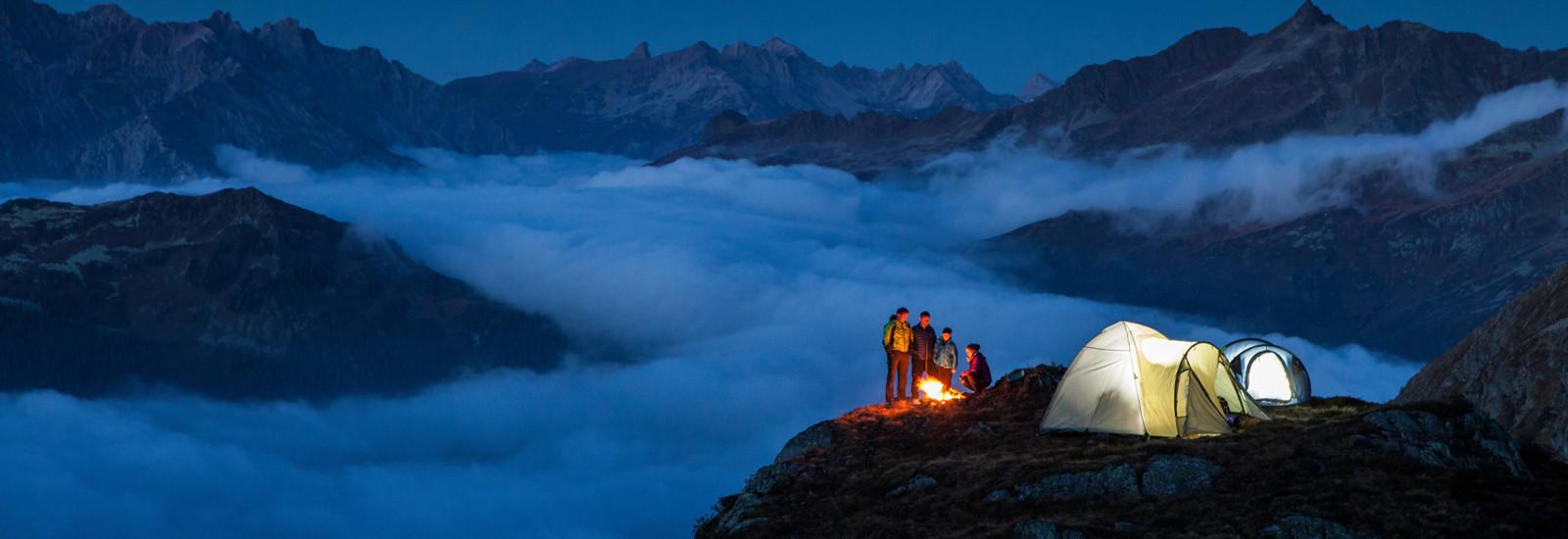 Alpines Campen