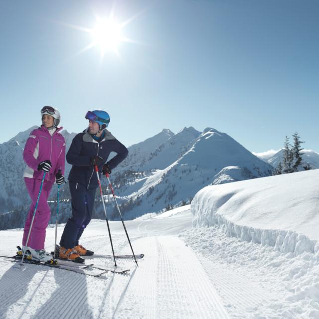 Skifahren in Schladming, Steiermark