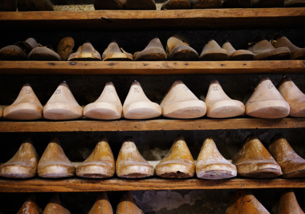 Holzmodelle Goiserer Schuhe