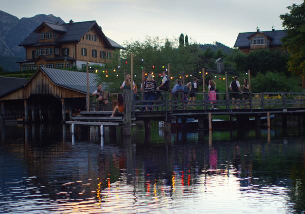 Music on the landing dock