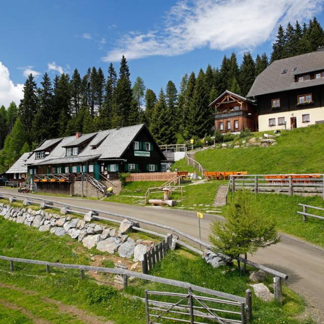 Die Tonnerhütte nahe dem steirischen Zirbitzkogel