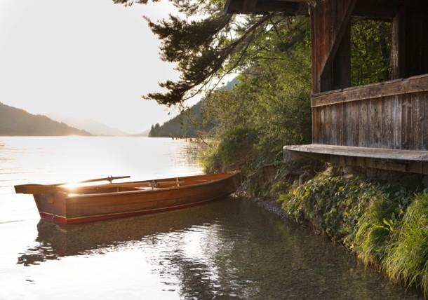 Boot am Weissensee