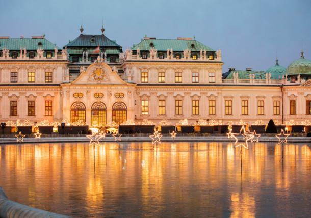 Adventmarkt Wien / Schloss Belvedere