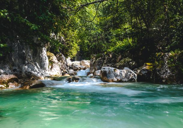 Stream in Kaisergebirge Mountains