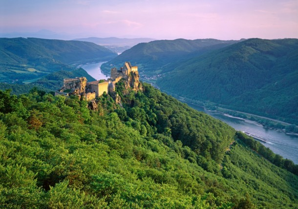 Zřícenina hradu Aggstein v Dolním Rakousku