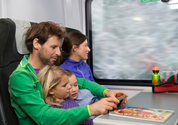 Deutsche Bahn, ÖBB - Zugfahrt im Winter