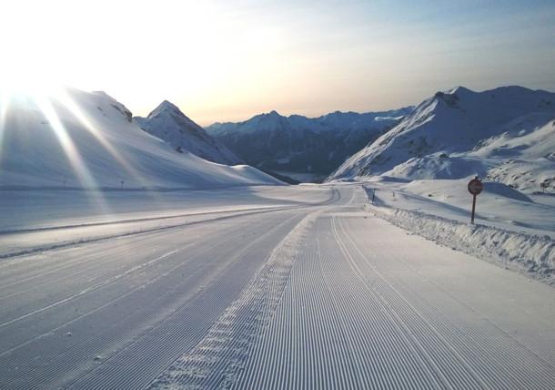 Höhenloipe auf dem Mölltaler Gletscher in Kärnten