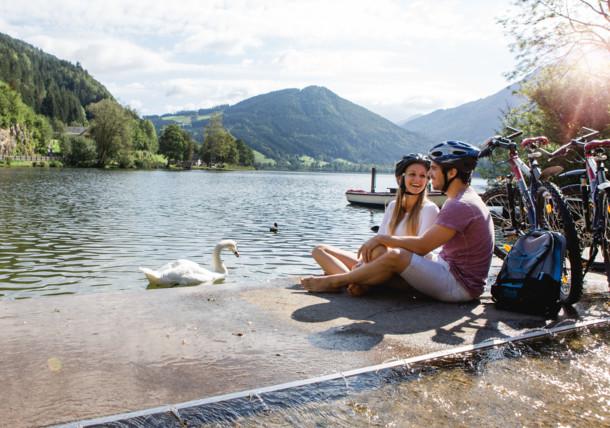 Horské jezero Lunzer See v Dolním Rakousku
