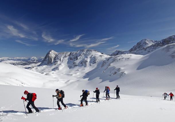 Skiing at Dachstein glacier
