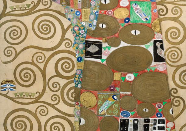 Gustav Klimt, design drawing, Palais Stoclet, fulfilment in the MAK