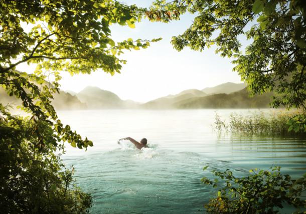 Lake Fuschl - Swimmer