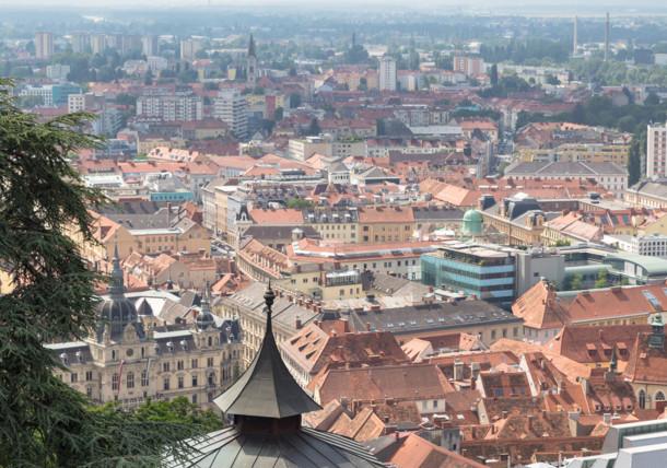 View over Graz