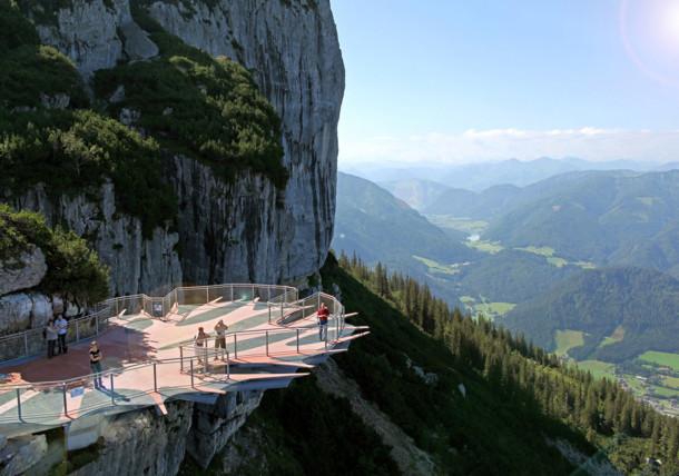 Aussichtsplattform Steinplatte Waidring
