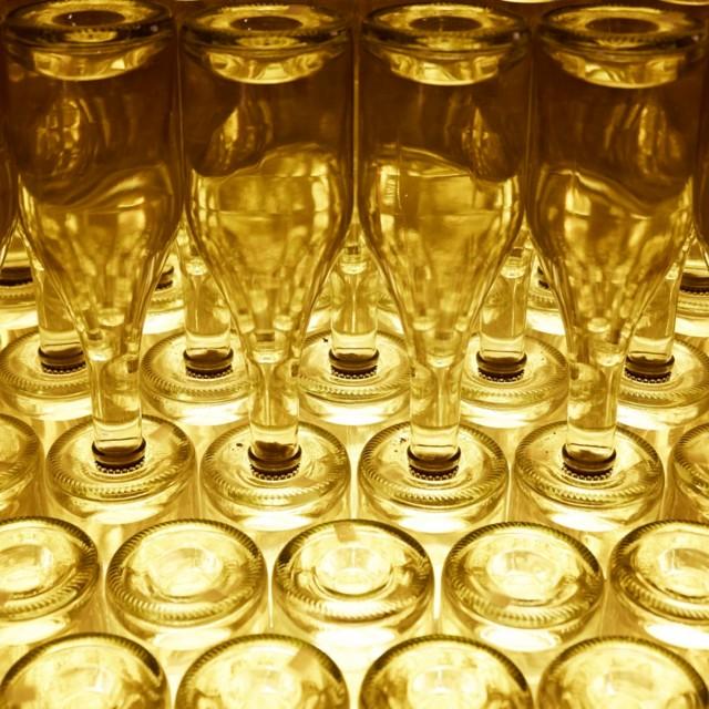 Sektflaschen Sektkellerei Schlumberger Wien