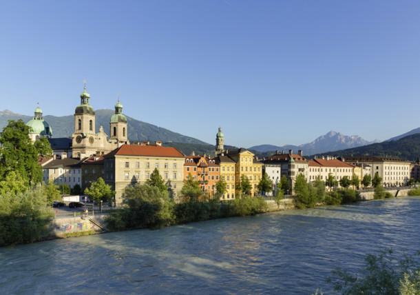 city of Innsbruck on the river Inn