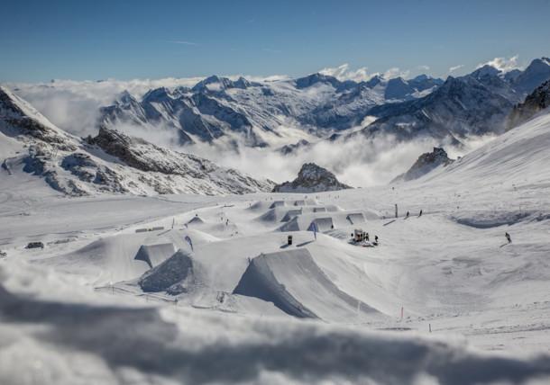 Betterpark am Hintertuxer Gletscher