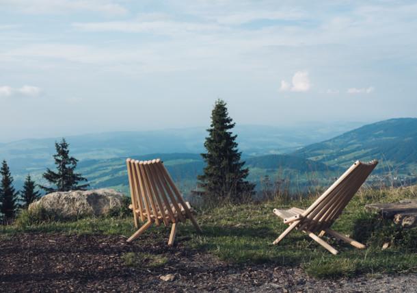 View from Baumgarten above Bezau in Bregenzerwald