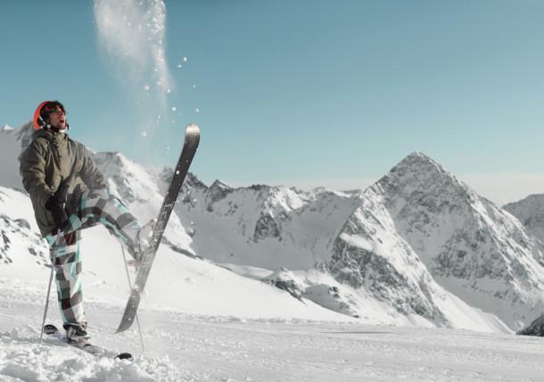Skifahren in Stubai in Tirol