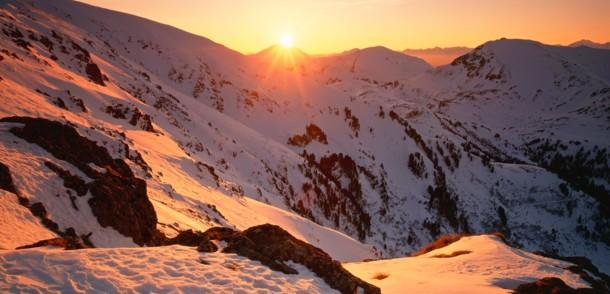 Sonnenuntergang in den Nockbergen