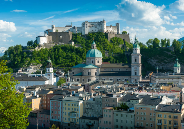 View to the city of Salzburg