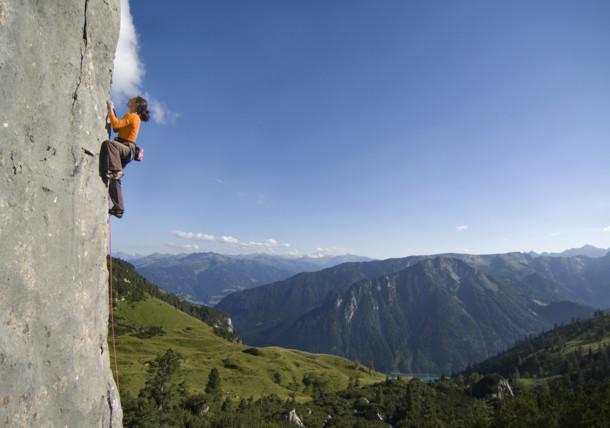 Horolezecká oblast Klobenjoch v pohoří Rofan