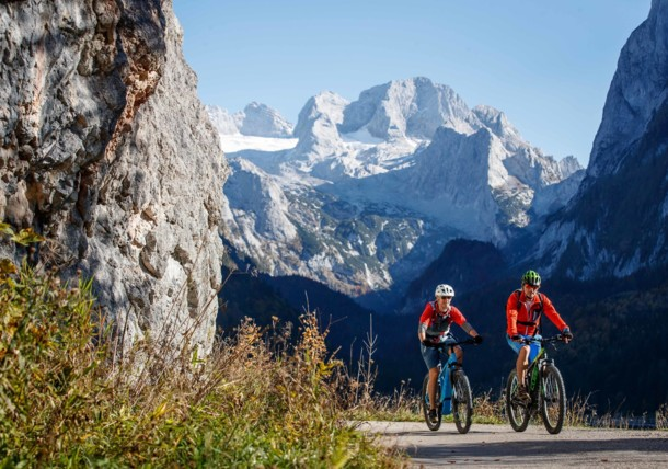 Mountainbiken auf der Dachsteinrunde
