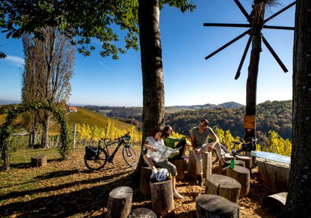 Rast an der Weinland Steiermark Radtour
