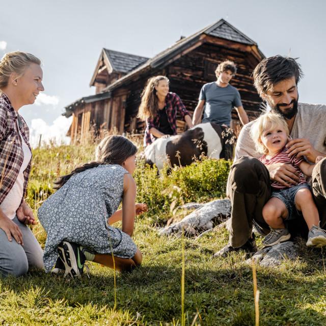 Ferien mit Familie auf der Gjaidalm