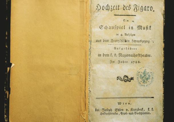 """""""Die Hochzeit des Figaro""""  text booklet"""