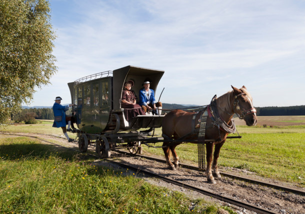 Carriage ride with the horse-drawn railway