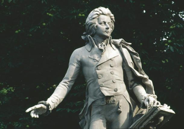 Monument of W. A. Mozart / Vienna / Burggarten
