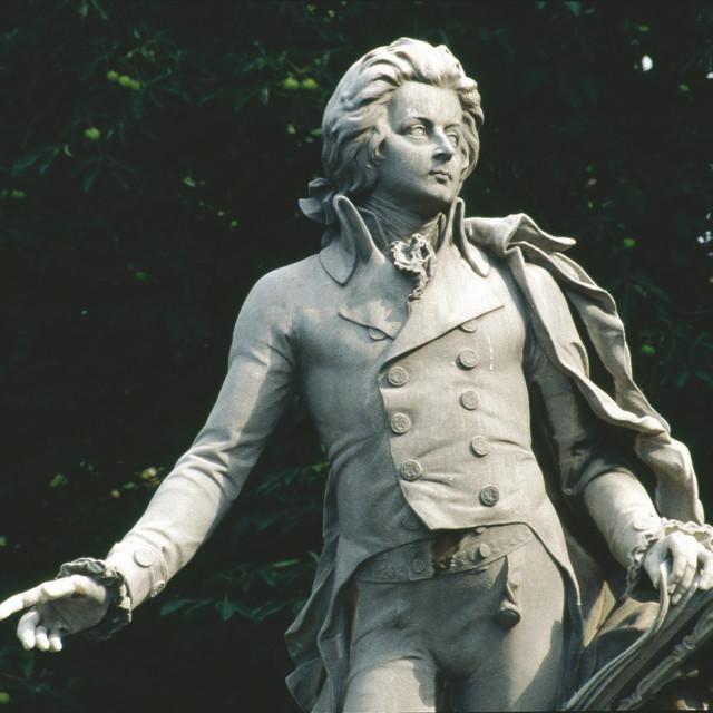 W. A. Mozart- Denkmal im Burggarten