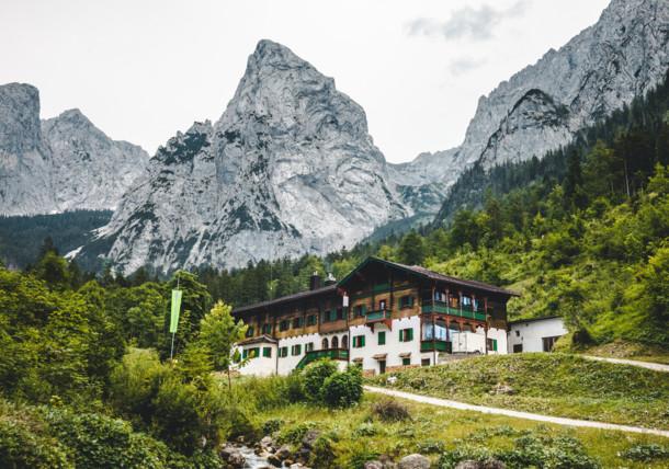 Horská chata v pohoří Kaisergebirge