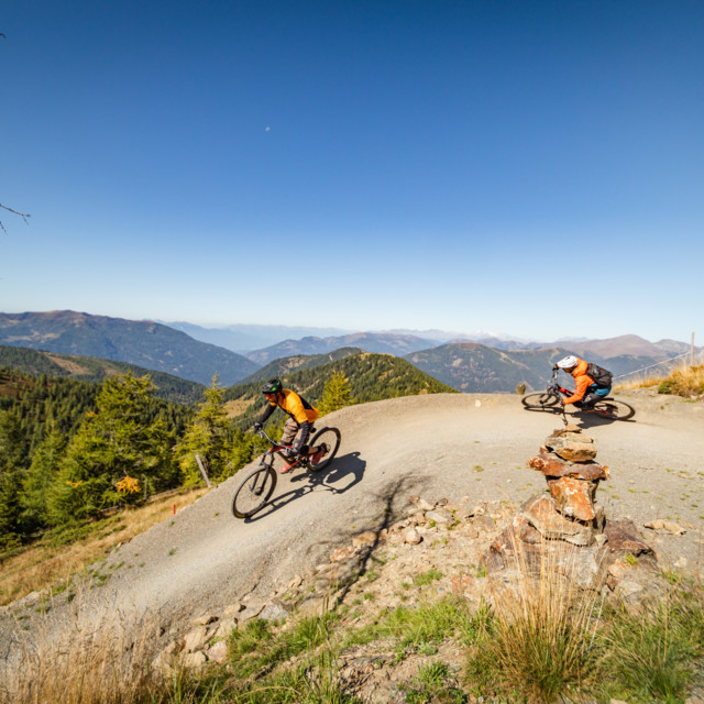 Flow Country Trail Panorama in der Region Nock/bike