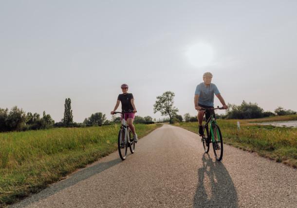 cycling (e-biking) around lake Neusiedler See