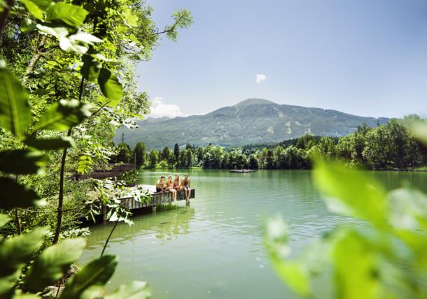 swimming at lake Lanser See