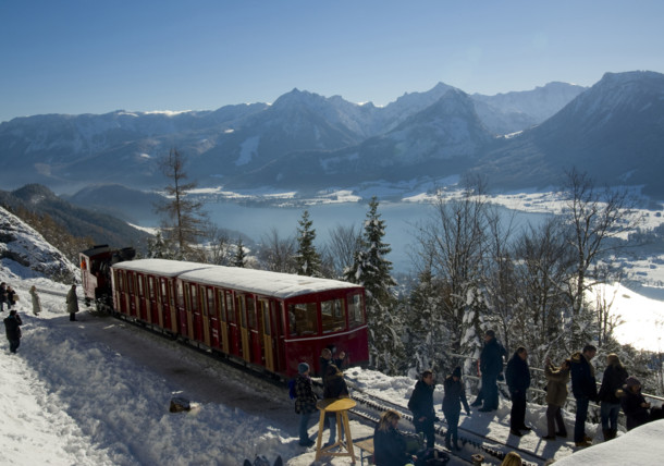 tren nostálgico Schafbergbahn en St Wolfgang