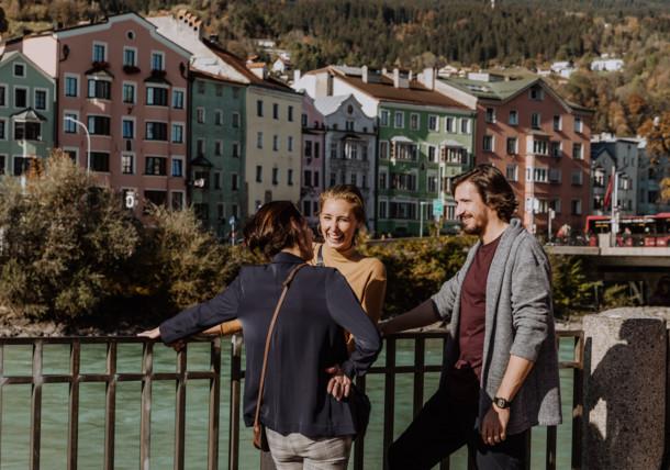 Rundgang durch die Stadt Innsbruck - Mariahilf (Innufer)